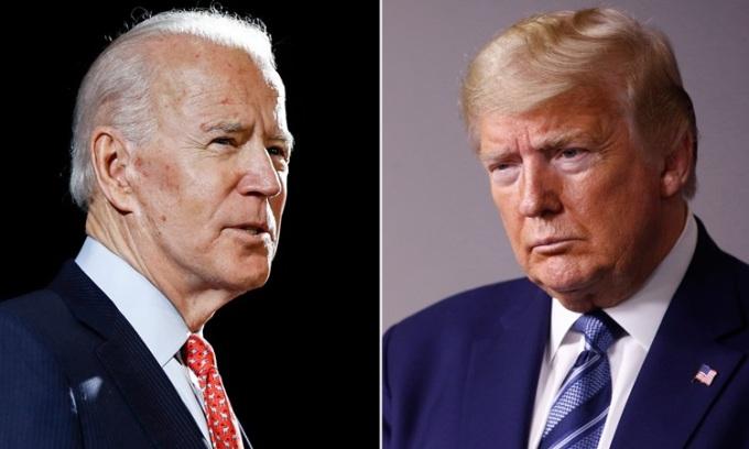 Ứng viên tổng thống đảng Dân chủ Joe Biden (trái) và Tổng thống Mỹ Donald Trump. Ảnh: USA Today.
