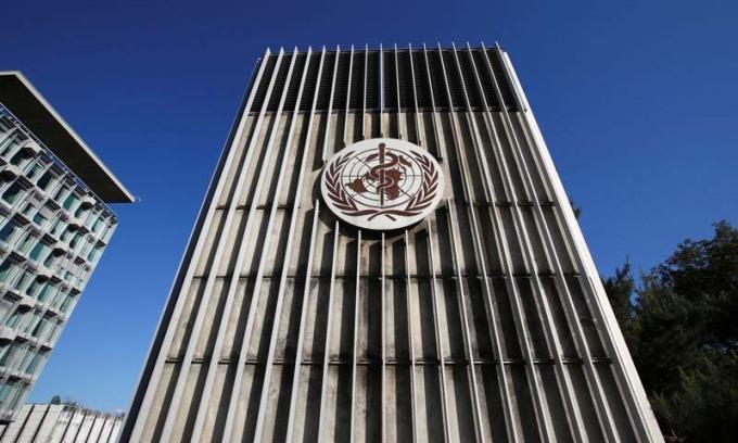 Trụ sở WHO tại Geneva, Thụy Sĩ, hôm 18/5. Ảnh: Reuters.
