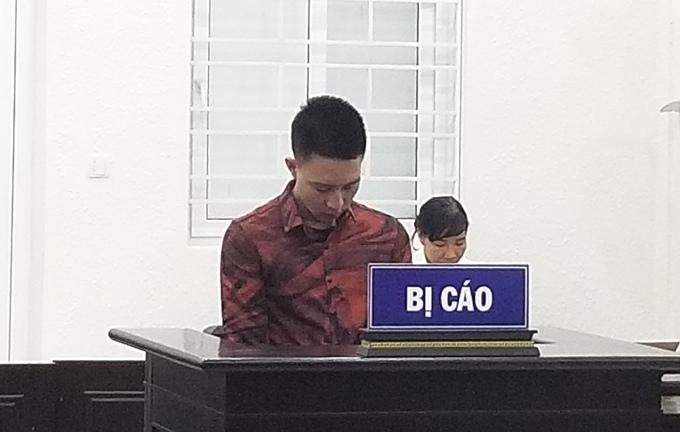 Ngô Văn Vũ tại phiên toà chiều 5/8. Ảnh: Lam Vân