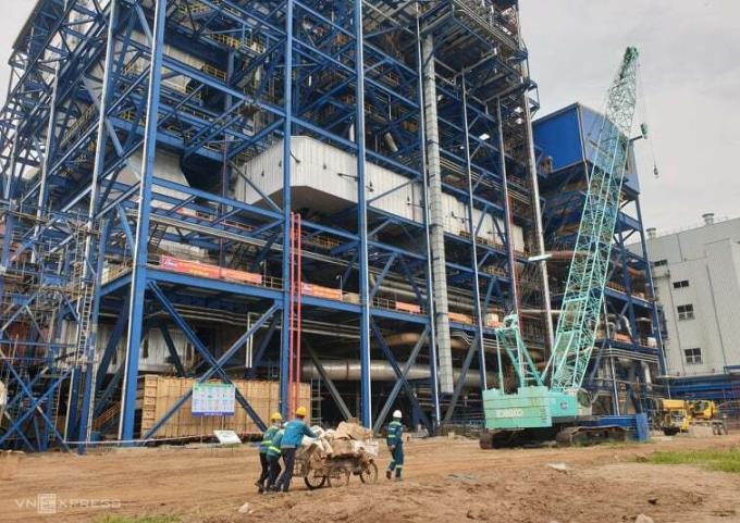 Dự án Nhiệt điện Thái Bình 2 vào tháng 7/2019. Ảnh: Hoài Thu.