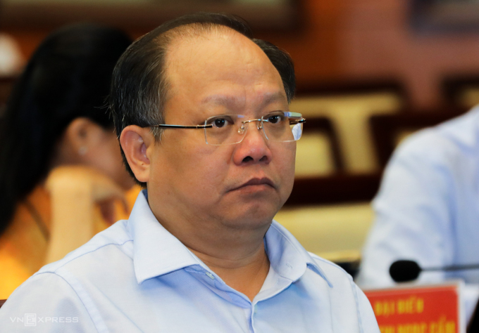 Ông Tất Thành Cang tại kỳ họp HĐND TP HCM ngày 9/12/2019. Ảnh: Như Quỳnh.