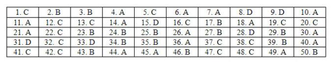 Đáp án 24 mã đề Tiếng Anh thi tốt nghiệp THPT - 34