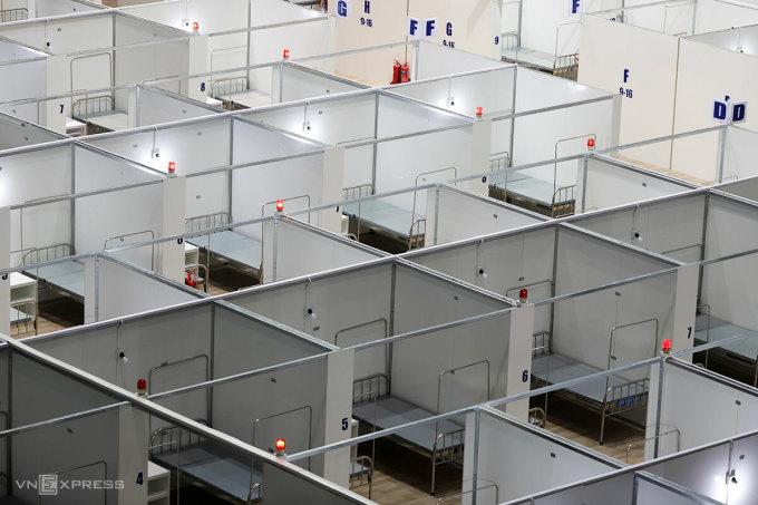 Đà Nẵng đã có thêm Bệnh viện dã chiến Tiên Sơn gần 300 giường để thu dung điều trị bệnh nhân mắc nCoV. Ảnh: Nguyễn Đông.