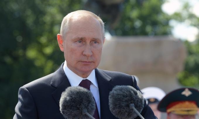 Tổng thống Nga Vladimir Putin phát biểu tại một sự kiện ở thành phố Saint Petersburg hôm 26/7. Ảnh: Reuters.