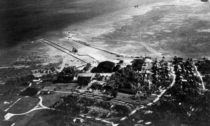 Căn cứ hải quân ở đảo Guam trước Thế chiến II. Ảnh: US Navy.
