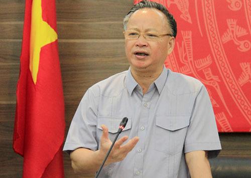 Phó chủ tich Thường trực UBND TP Hà Nội Nguyễn Văn Sửu. Ảnh: Võ Hải.