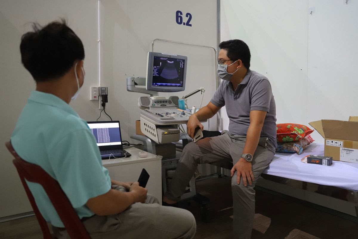 Bệnh viện Dã chiến Tiên Sơn trước ngày hoạt động