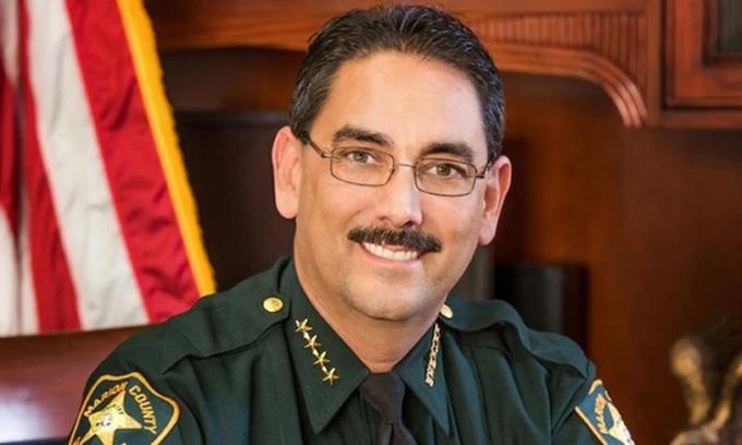 Cảnh sát trưởng hạt Marion, miền trung Florida,  Billy Woods. Ảnh: Washington Post.