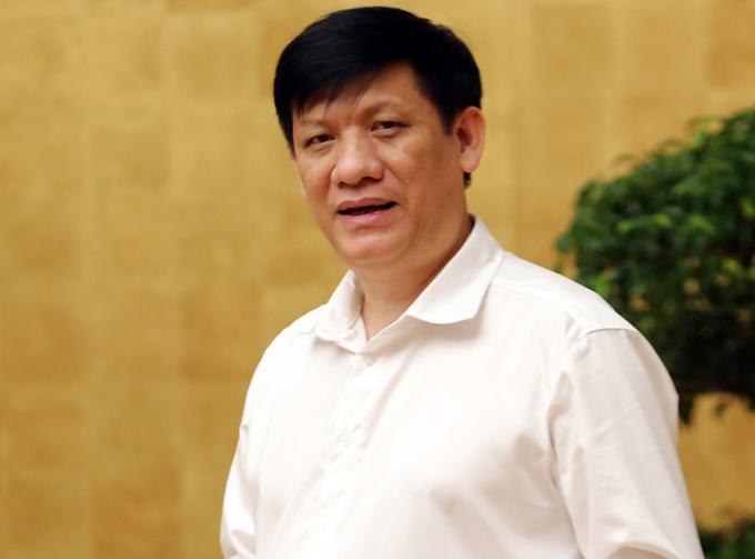 Ông Nguyễn Thanh Long, quyền Bộ trưởng Y tế phát biểu tại cuộc họp Ban chỉ đạo quốc gia phòng chống Covid-19, sáng 14/8. Ảnh: Đình Nam