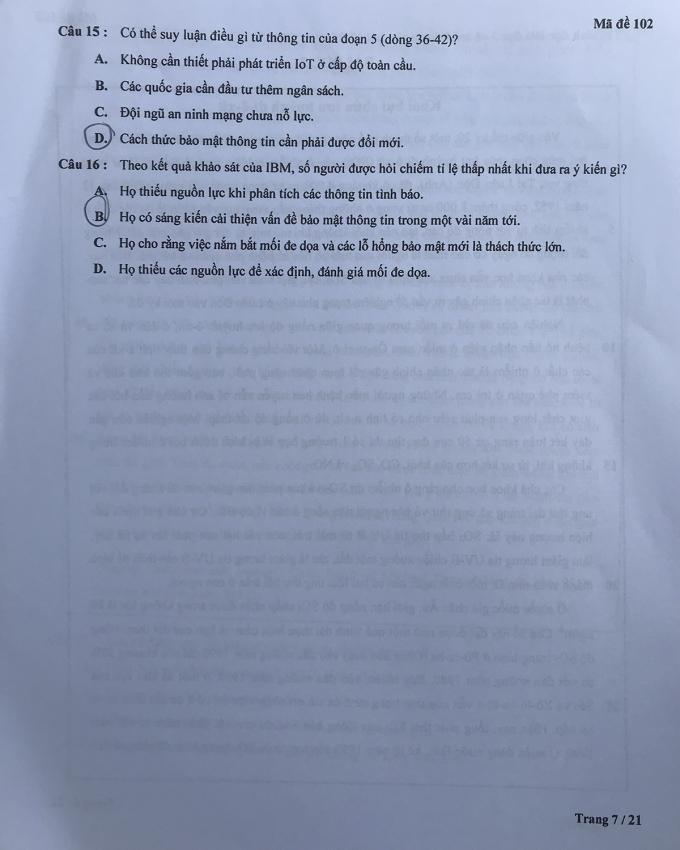 Đề kiểm tra tư duy vào Đại học Bách khoa Hà Nội - 12