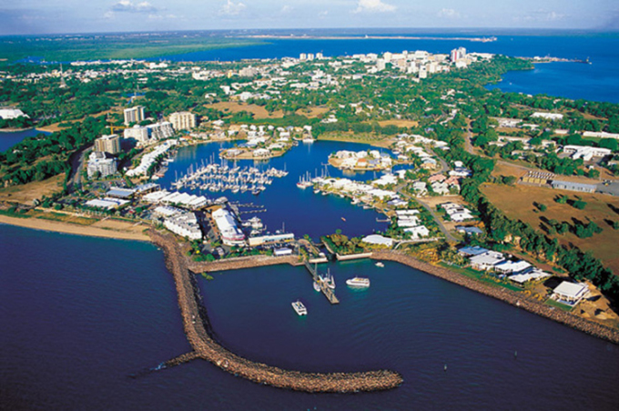 Cảng Darwin, phía bắc Australia. Ảnh: Darwin Info.