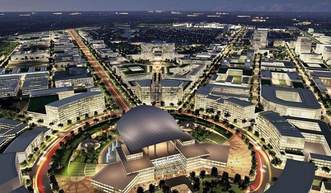 Phối cảnh Khu đô thị sáng tạo - Thành phố Thủ Đức theo phương án quy hoạch của Công ty Sasaki - enCity - đơn vị được UBND TP HCM chấm giải Nhất. Ảnh: Sasaki.