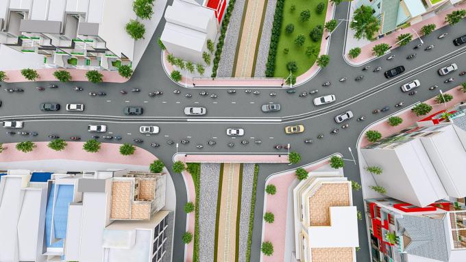Ảnh: Phối cảnh cầu Hang Ngoài sau khi thi công xong. Ảnh: Ban Quản lý dự án đầu tư xây dựng các công trình giao thông.