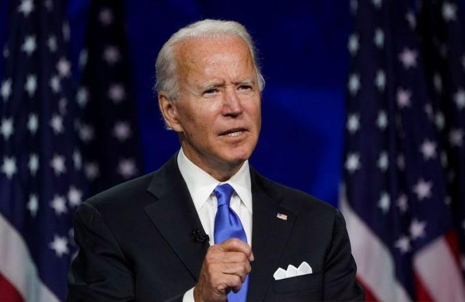 Ứng viên tổng thống Joe Biden phát biểu tại hội nghị quốc gia đảng Dân chủ ở Wilmington, Delaware, hôm 20/8. Ảnh: Reuters.