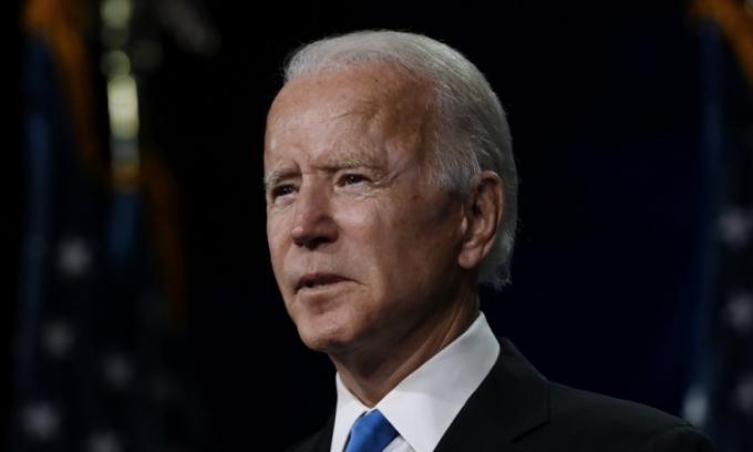 Ứng viên tổng thống Joe Biden phát biểu tại hội nghị quốc gia đảng Dân chủ ở Wilmington, Delaware, hôm 20/8. Ảnh: AFP.