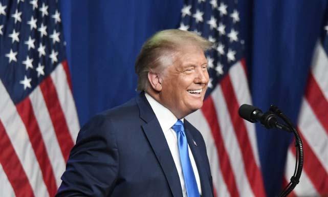Tổng thống Mỹ Donald Trump phát biểu trong ngày đầu tiên của Hội nghị Quốc gia đảng Cộng hòa tại thành phố Charlotte, bang Bắc Carolina hôm 24/8. Ảnh: AFP.