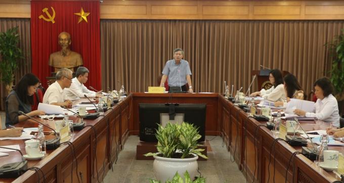 Thứ trưởng Phạm Công Tạc nêu các yêu cầu khi xây dựng dự án sửa đổi bổ sung Luật sSở hữu trí tuệ. Ảnh: MH.