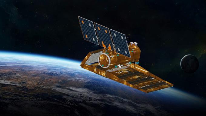 Mô phỏng vệ tinh SAOCOM-1B của CONAE. Ảnh: Viento Sur Noticias.