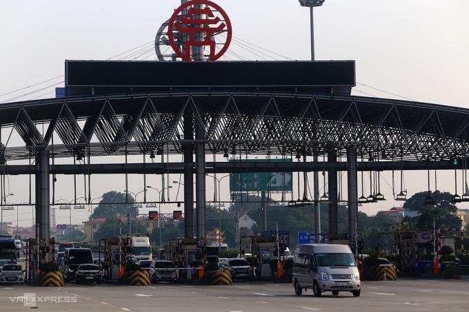 Trạm thu phí trên cao tốc Pháp Vân-Cầu Giẽ hồi tháng 8/2019. Ảnh: Bá Đô