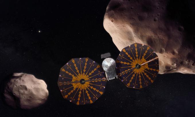 Tàu vũ trụ Lucy sẽ khám phá các thiên thể trong nhóm tiểu hành tinh Trojan. Ảnh: Space.