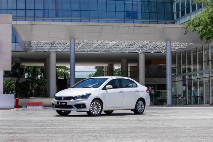 Mẫu Ciaz mới sắp ra mắt được nhập khẩu từ Thái Lan có sự cải tiến đáng kể về ngoại hình. Ảnh: Suzuki.