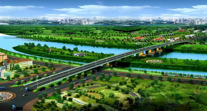 Phối cảnh cầu Thống Nhất qua sông Đồng Nai. Ảnh: Cổng thông tin điện tử Đồng Nai