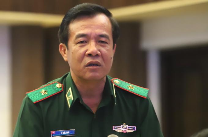 Thiếu tướng Lê Đức Thái, Tư lệnh Bộ đội Biên phòng, Bộ Quốc phòng. Ảnh: HT