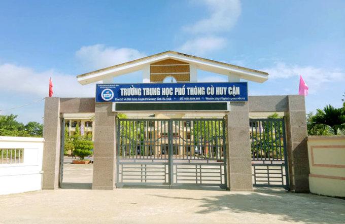 Trường THPT Cù Huy Cận, nơi thí sinh Phương Thảo từng theo học. Ảnh: Đức Hùng