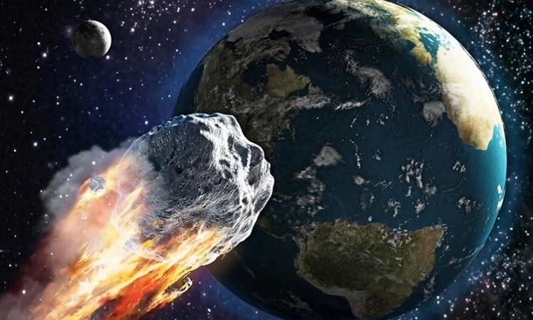 Hai thiên thạch khổng lồ bay về phía Trái Đất