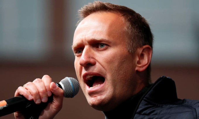 Alexei Navalny phát biểu trong một cuộc vận động tại Moskva, Nga, hồi tháng 9/2019. Ảnh: Reuters.