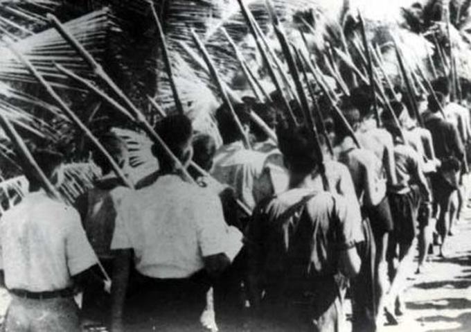 Quân dân Nam Bộ những ngày đầu chống Pháp xâm lược, tháng 9/1945. Ảnh: Bảo tàng Lịch sử Việt Nam.