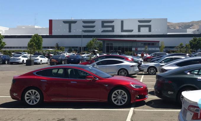 Nhà máy Tesla ở Fremont. Ảnh: Electrek