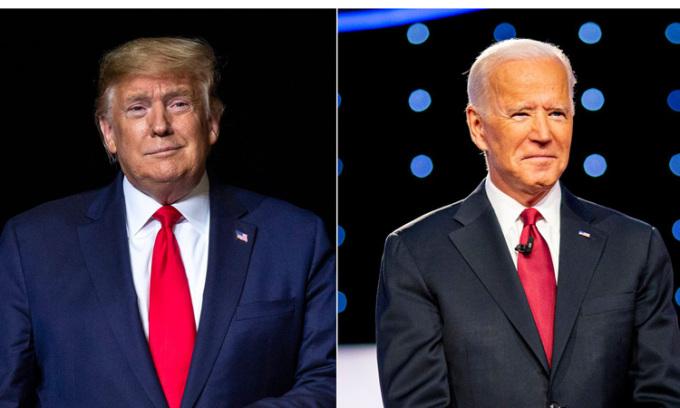 Tổng thống Mỹ Donald Trump và ứng viên tổng thống đảng Dân chủ Joe Biden. Ảnh: USA Today.