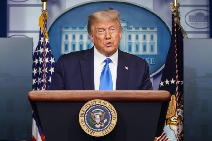 Tổng thống Trump tại họp báo ở Nhà Trắng, ngày 23/9. Ảnh: AFP.