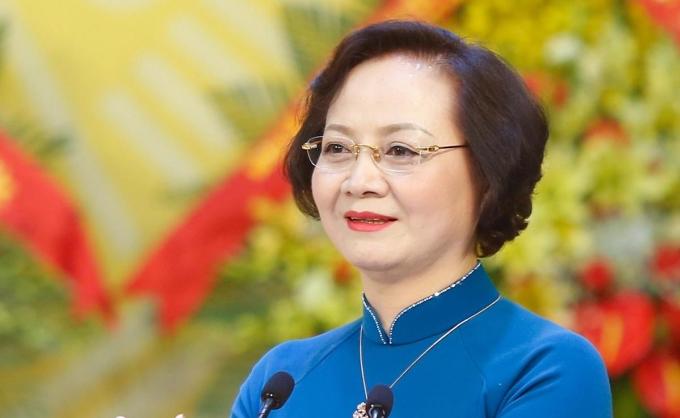 Bà Phạm Thị Thanh Trà tại Đại hội Đảng bộ Yên Bái. Ảnh: Hiếu Duy