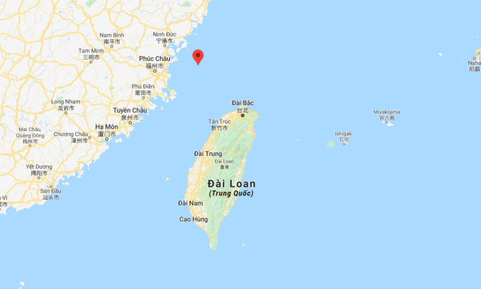 Quần đảo Mã Tổ (đánh dấu đỏ). Đồ họa: Google.