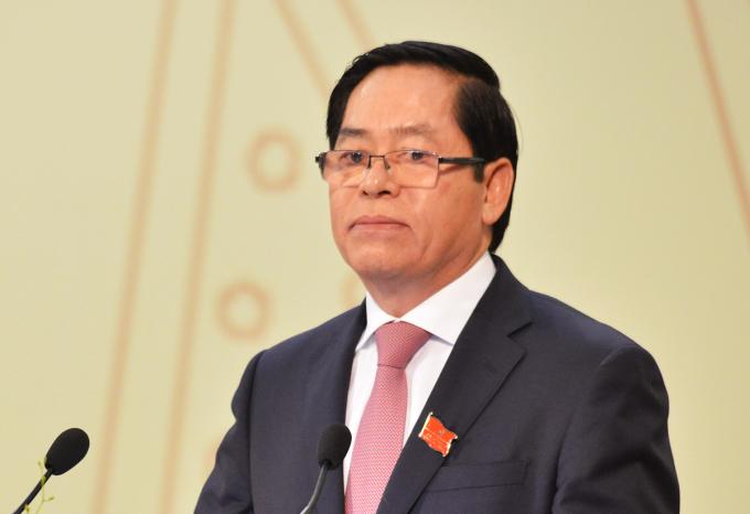 Ông Phạm Viết Thanh phát biểu tại phiên khai mạc Đại hội Đảng bộ tỉnh Bà Rịa - Vũng Tàu. Ảnh: Ban tổ chức.