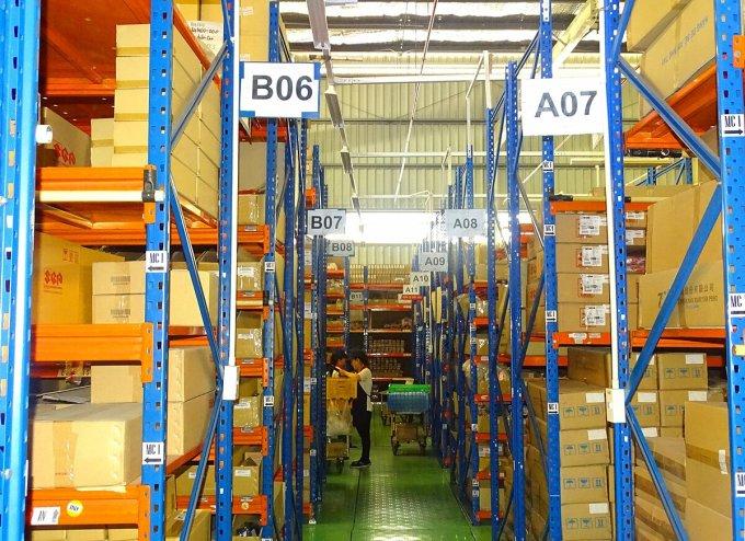 Kho phụ tùng tại nhà máy Long Bình của Suzuki. Ảnh: Việt Nam Suzuki.