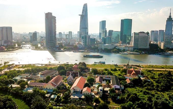 Theo phương án sắp xếp lại đơn vị hành chính phường An Khánh và Thủ Thiêm (bên này sông) sẽ được nhập thành một với tên gọi là phường Thủ Thiêm. Ảnh: Quỳnh Trần.