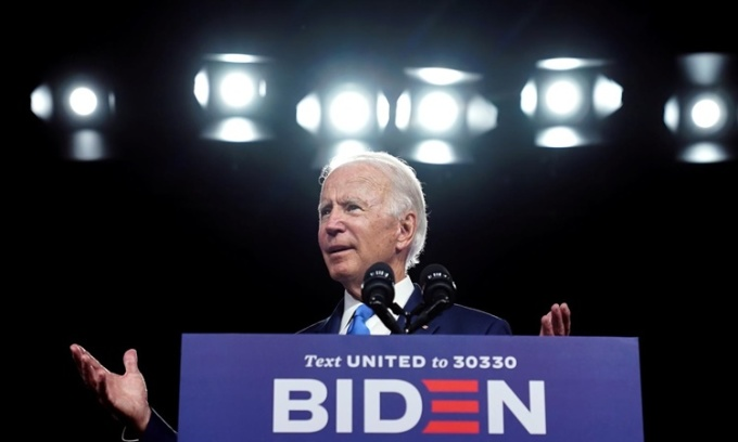 Joe Biden phát biểu về việc mở cửa trở lại trường học giữa Covid-19 tại Wilmington, Delaware, ngày 2/9. Ảnh: Reuters.