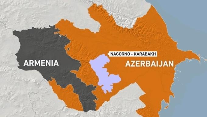 Vị trí Armenia, Azerbaijan và vùng Nagorno - Karabakh. Đồ họa: Al Jazeera.