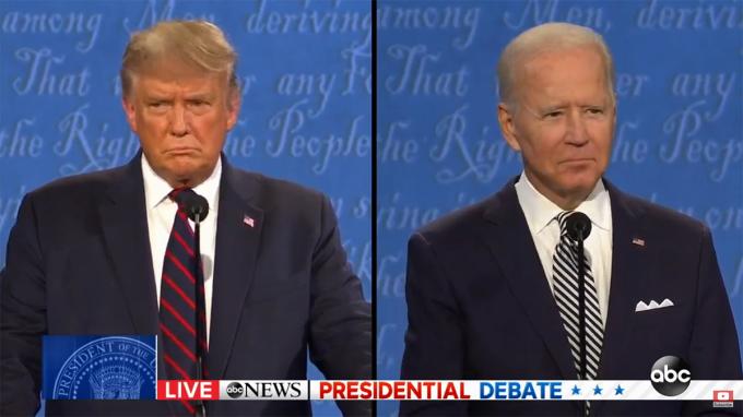 Tổng thống Mỹ Donald Trump (trái) và ứng viên đảng Dân chủ Joe Biden (phải).