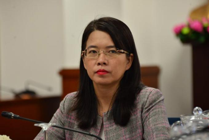Phó giám đốc Sở Du lịch TP HCM Nguyễn Thị Ánh Hoa tại cuộc họp báo. Ảnh:Hữu Công.
