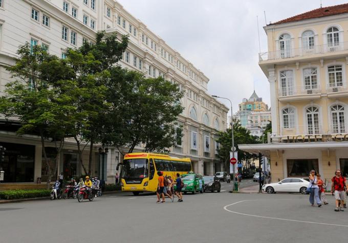 Đường Đồng Khởi, quận 1 theo đề án trở thành tuyến phố đi bộ. Ảnh:Quỳnh Trần.