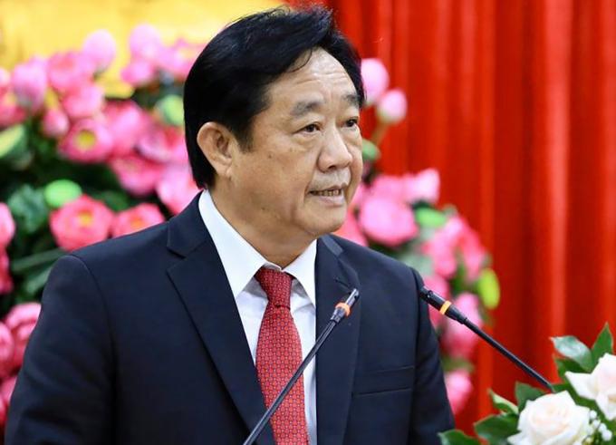 Ông Thao phát biểu sau khi nhậm chức chiều nay. Ảnh: Thái Hà