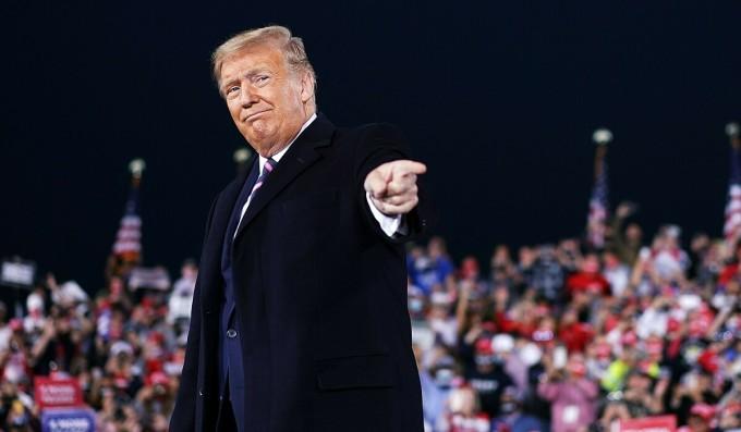 Trump tại cuộc mít tinh ở Pennsylvania ngày 22/9. Ảnh: AFP.