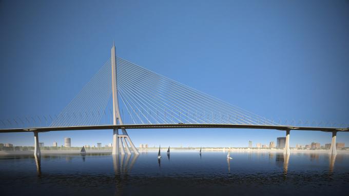 Phương án kiến trúc cầu Cần Giờ được chọn hồi tháng 4/2019. Ảnh: Sở Quy hoạch - Kiến trúc TP HCM.