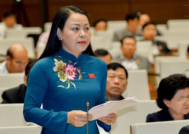 Bà Nguyễn Thị Thu Hà, Bí thư Tỉnh uỷ Ninh Bình. Ảnh: Trung tâm báo chí Quốc hội