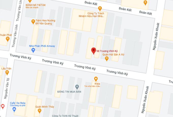 Vị trí ngân hàng bị c.ướp. Ảnh: Google maps.