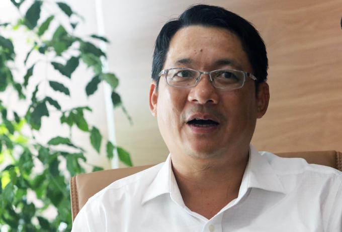 Phó giám đốc Sở Giao thông Vận tải Hà Nội Vũ Hà. Ảnh: Võ Hải.
